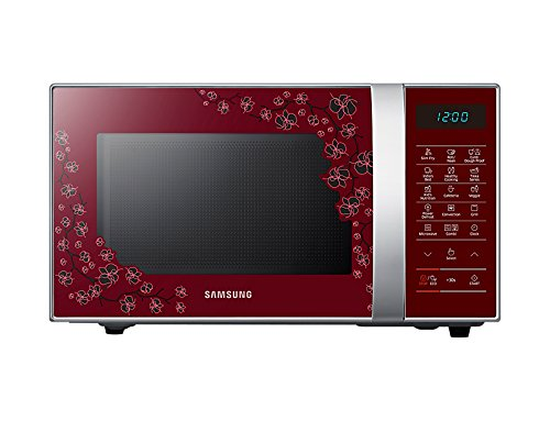 21 liters silver finish Samsung microwave oven