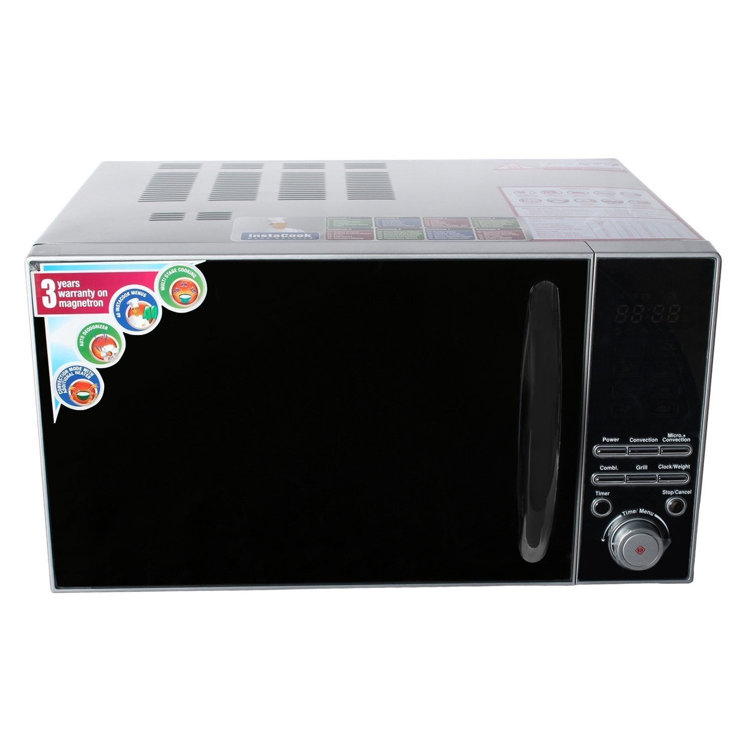 godrej gmx23ca3 23 litre convection microwave oven sliver rh microwaveoven co in First Microwave Oven Invented Percy LeBaron Spencer Microwave Oven