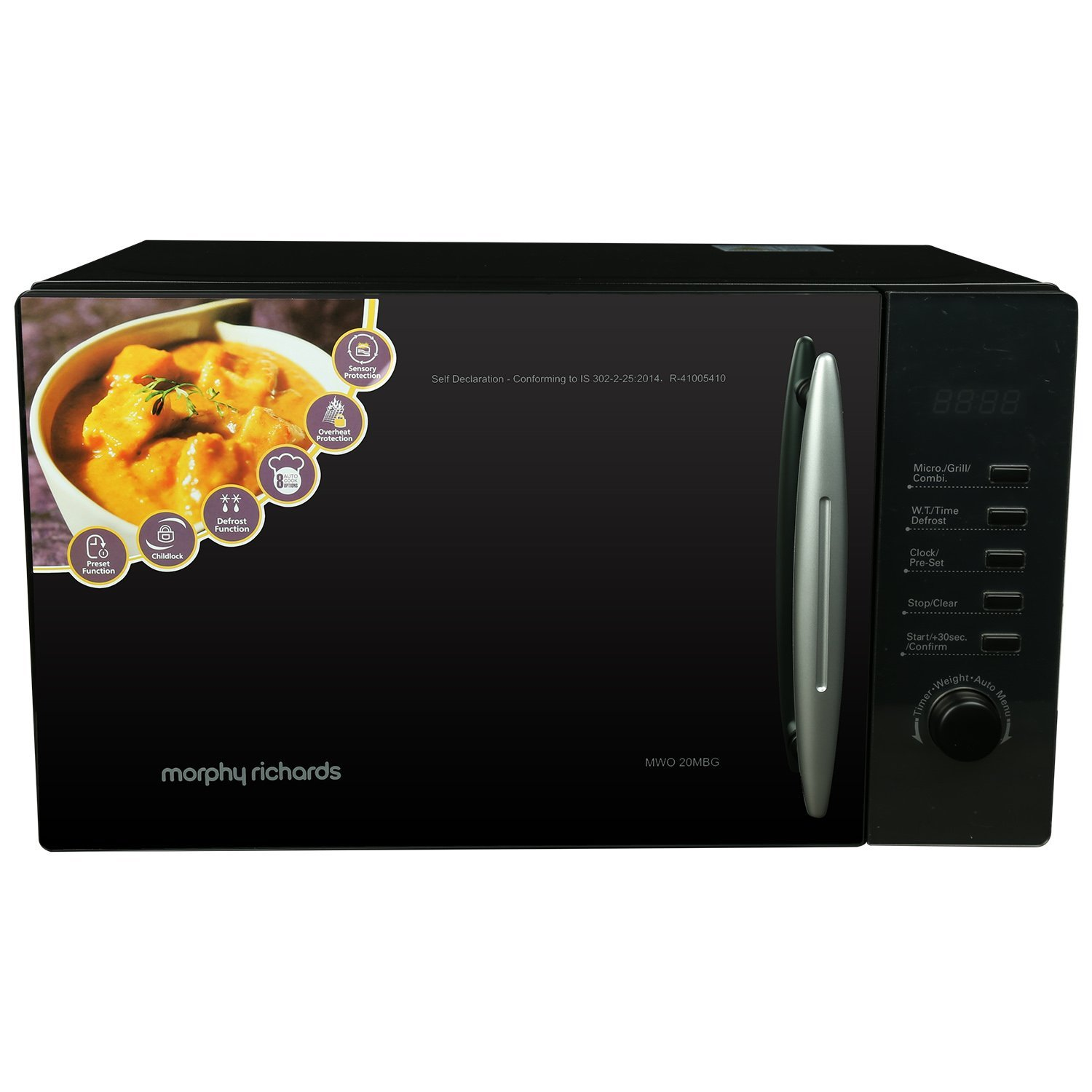 Morphy Richards 20 L Grill Microwave Oven (20MBG, Black)