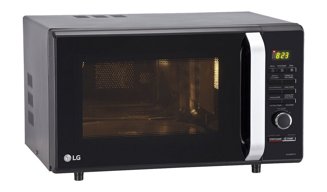 28 Liters LG Microwave Black Oven