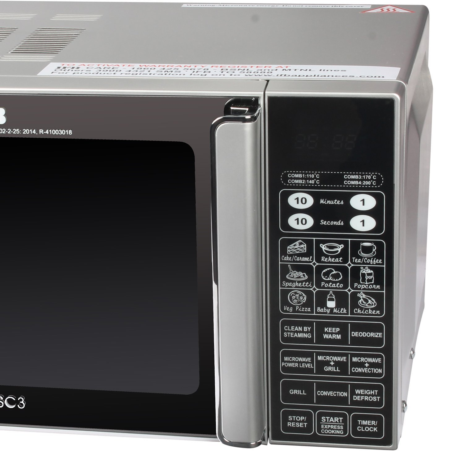 IFB microwave convection mode metalic silver