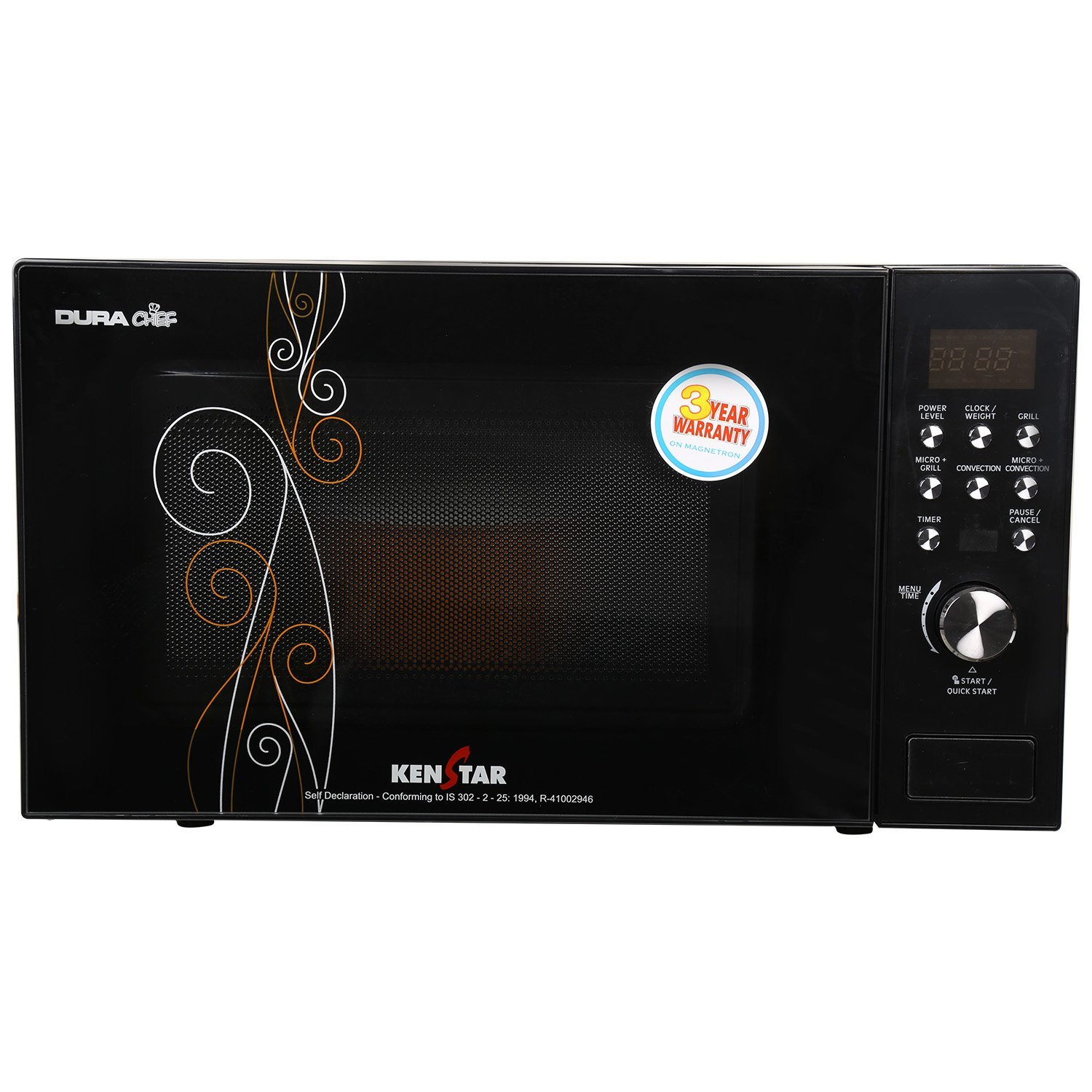 Kenstar 20 L Convection Microwave Oven (KJ20CBG101, Black)
