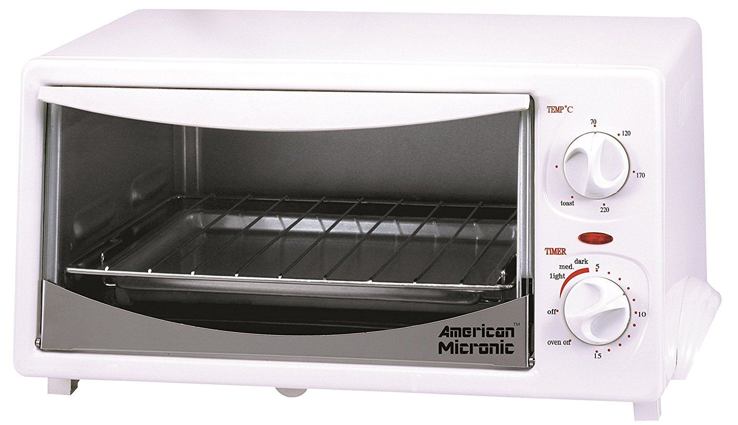 AMERICAN MICRONIC - 12 Liters Imported Oven Toaster Griller (OTG) with Timer & Variable temperature control. FREE Baking Tray & Wire Rack- AMI-OTG-12LDx
