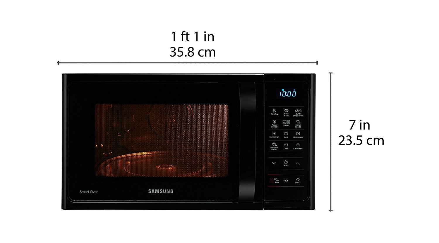 Samsung microwave oven black