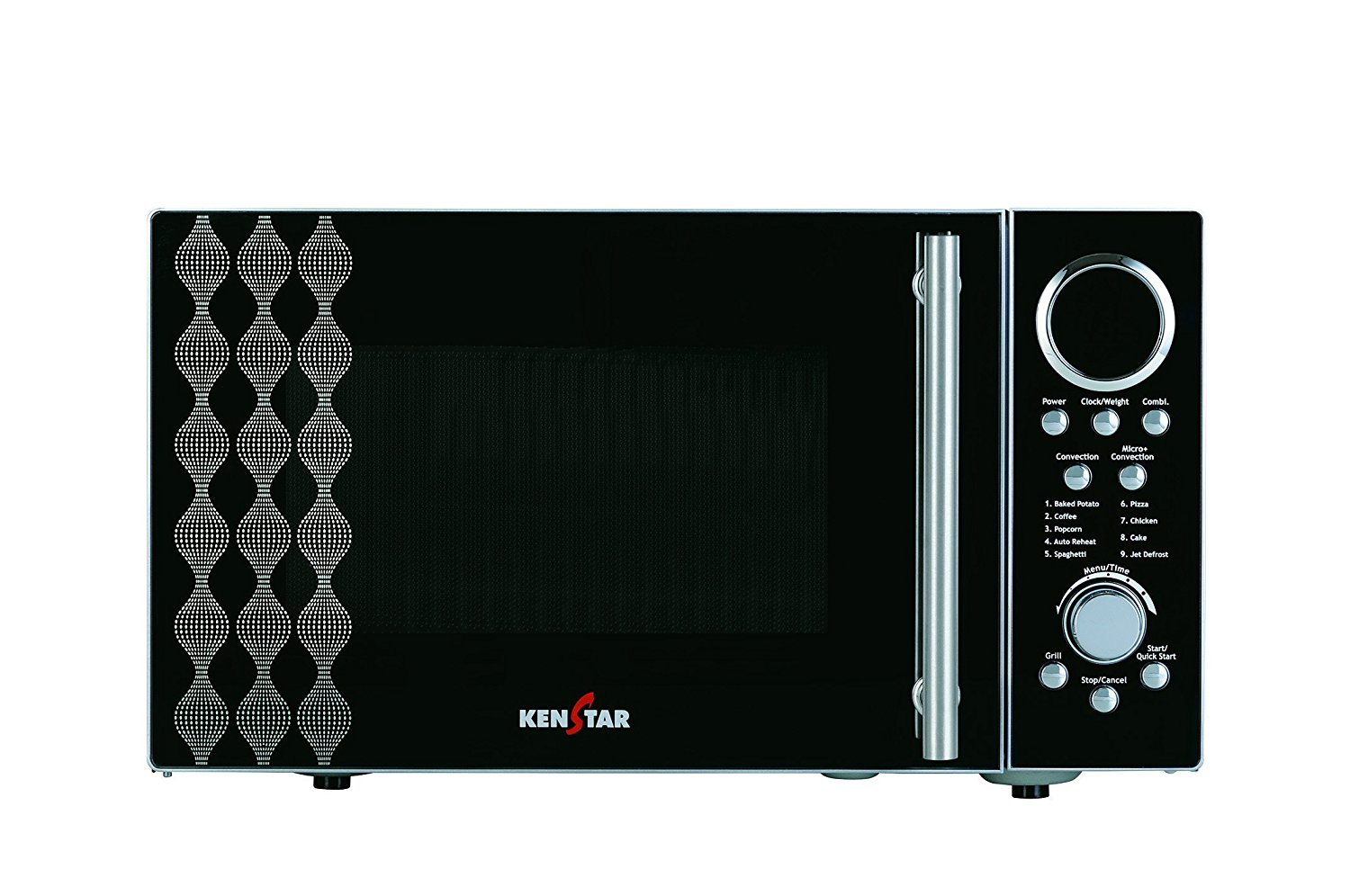 25 liters kenstar convection microwave oven silver finish