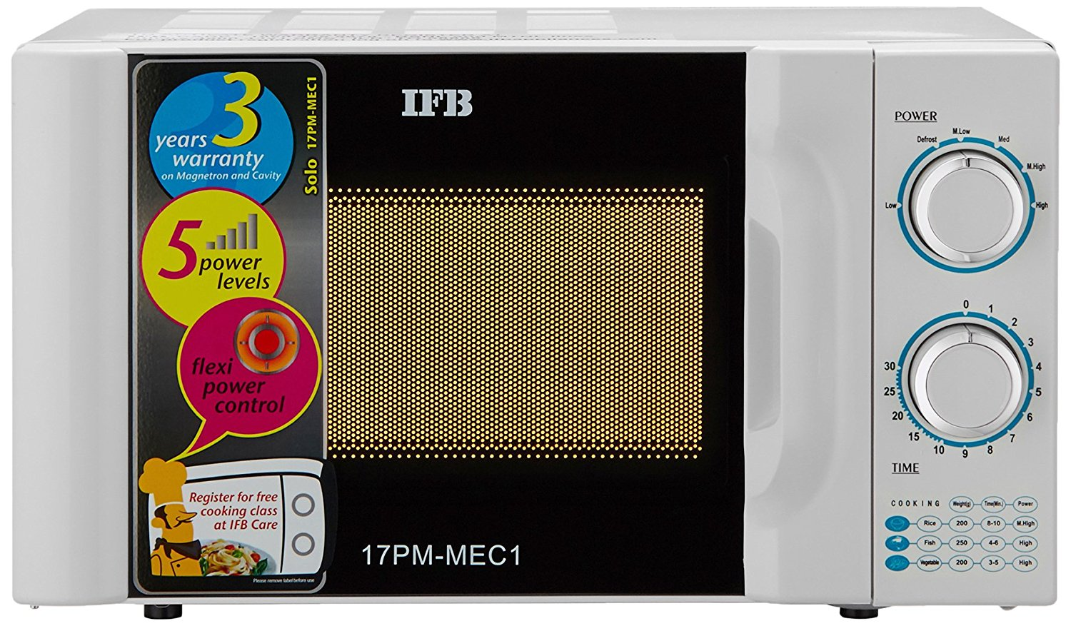 IFB 17 L Solo Microwave Oven (17PM MEC 1, White) Review
