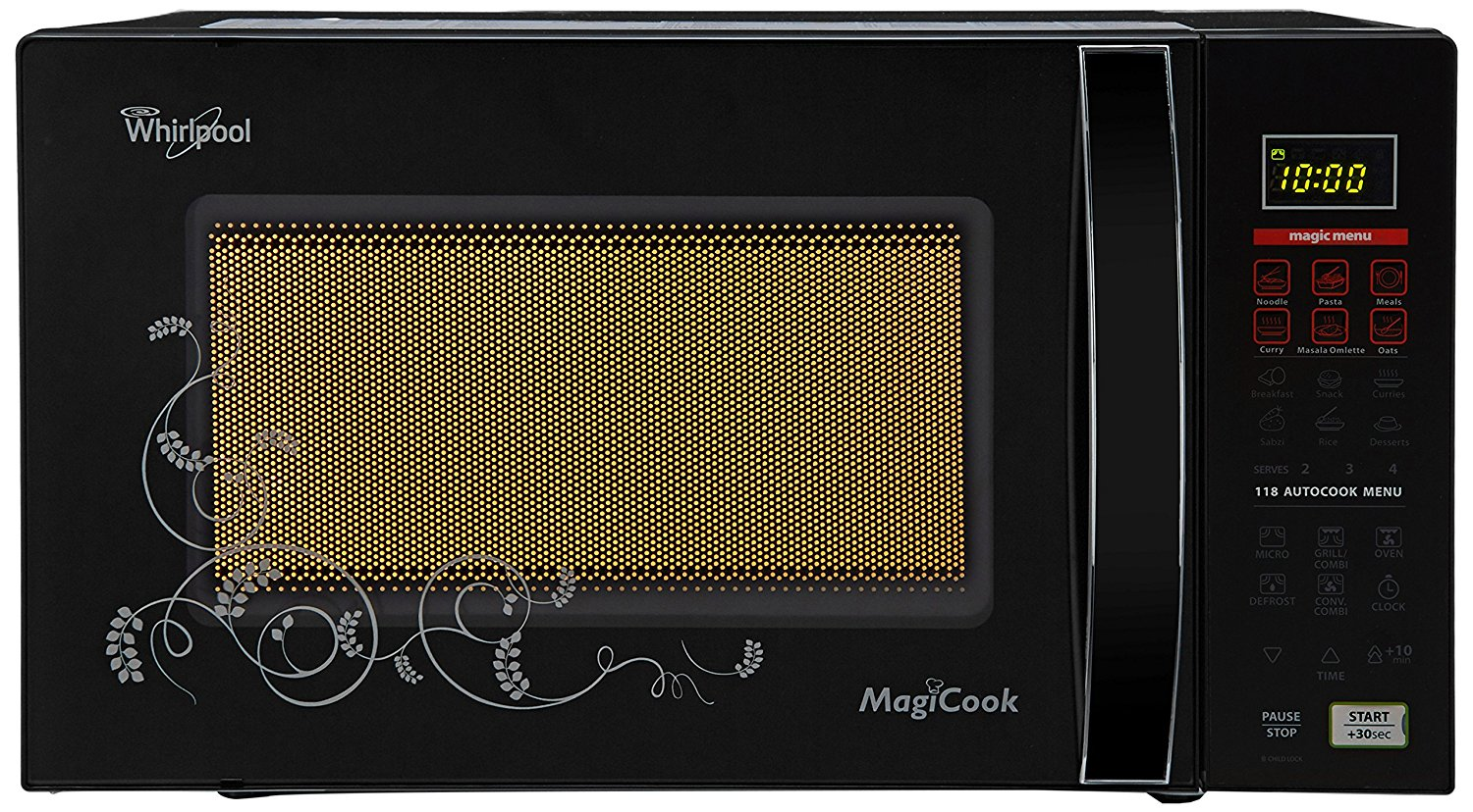 Whirlpool 20 L Convection Microwave Oven (Magicook Elite-20L, Solid Black)