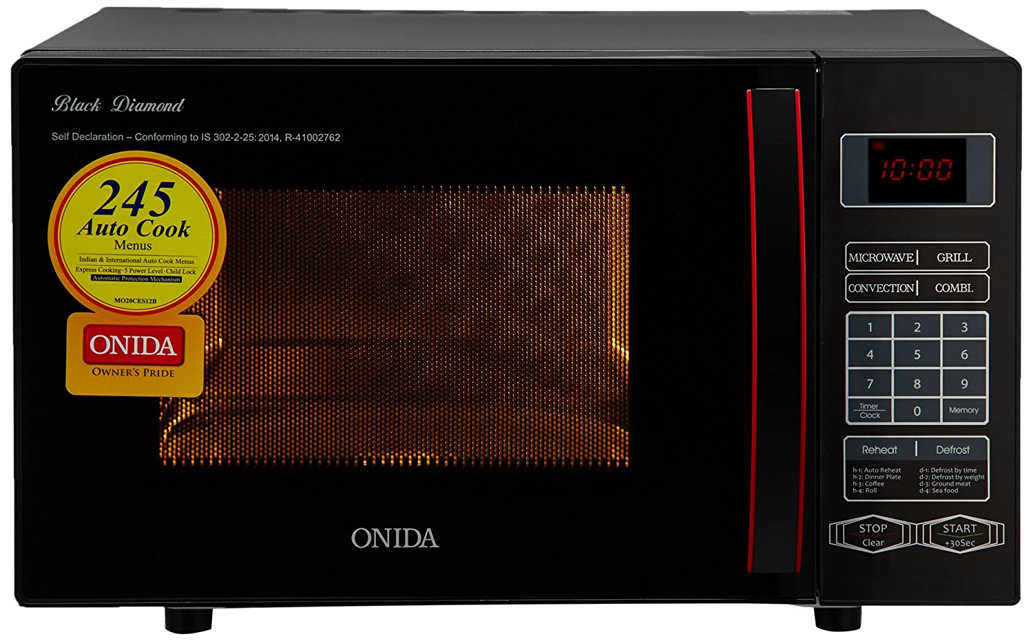 20 liters onida microwave oven - convection cooking