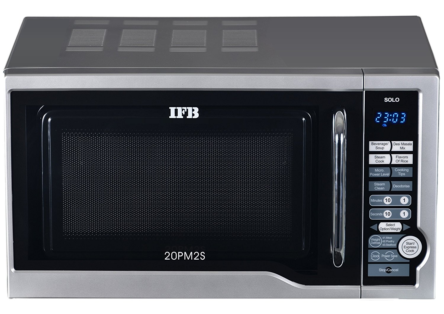 Ifb Solo 20pm2s 20 Liters 800 Watts Microwave Oven Silver