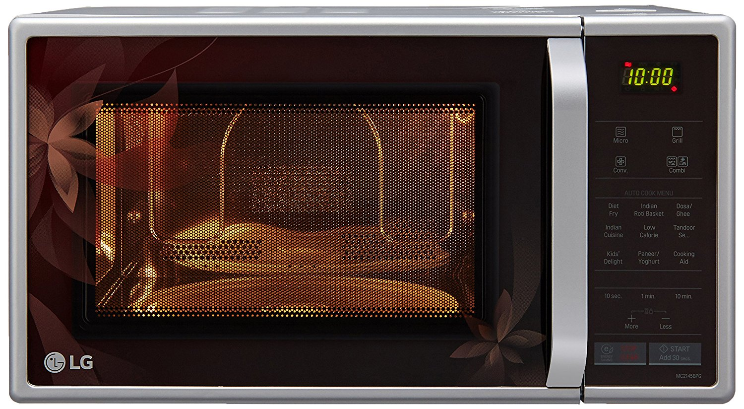 Silver finish LG convection microwave oven 21L