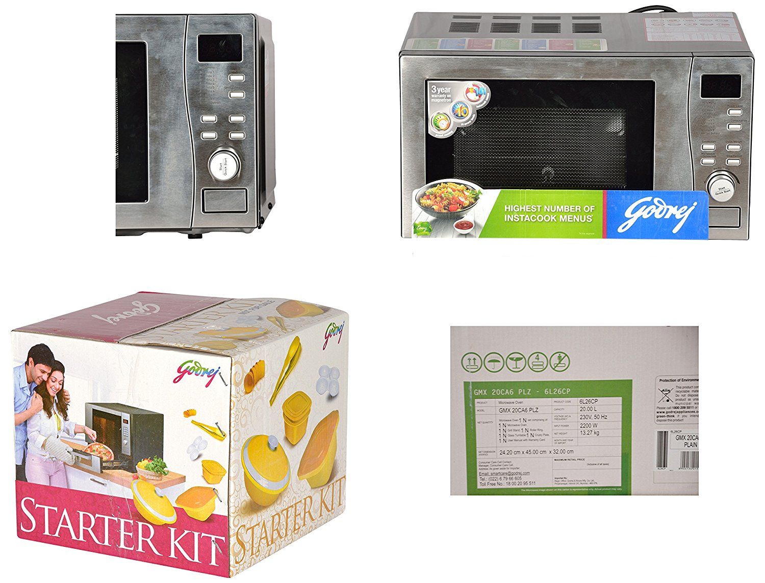 Godrej microwave 20L clear display