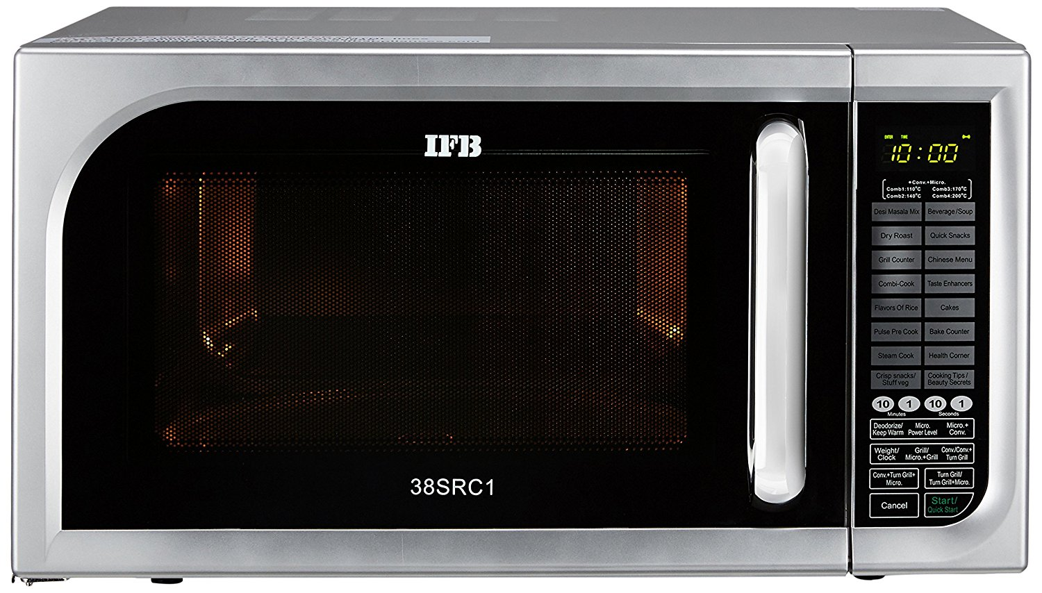 IFB 38 L Convection Microwave Oven (38SRC1, Metallic Silver)